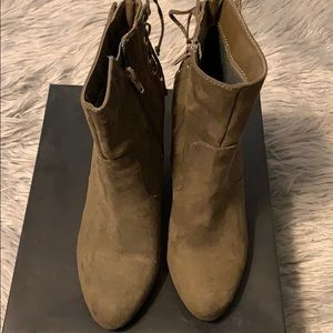 FOREVER 21  lace back booties (No Box)